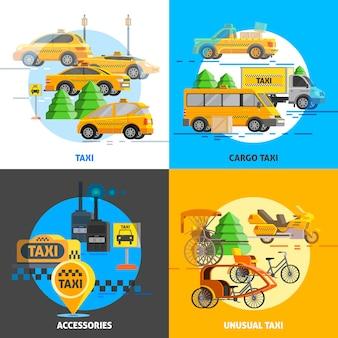 Concepto de servicio de taxi
