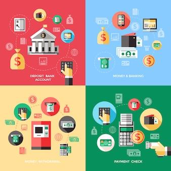 Concepto de servicios bancarios