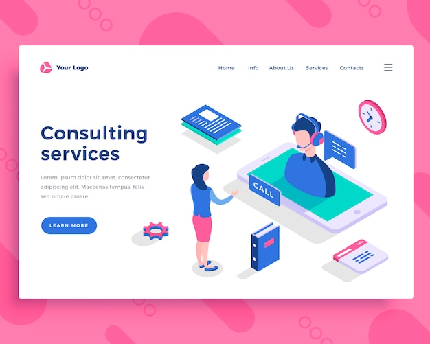 Concepto de servicios de consultoría