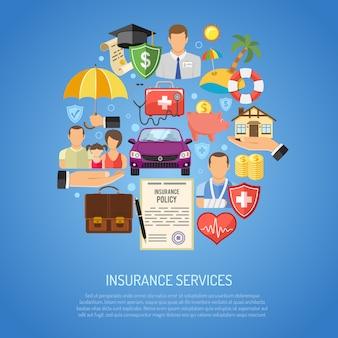 Concepto de servicios de seguros