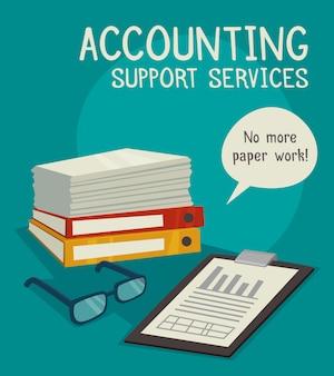 Concepto de servicios de soporte contable