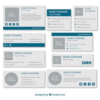 Concepto de signatura de email