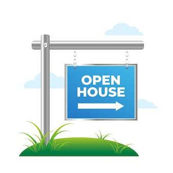 Concepto de signo de casa abierta