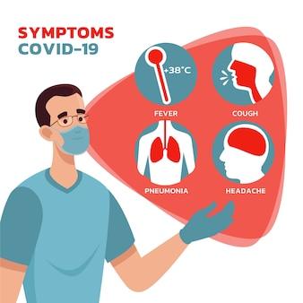 Concepto de síntomas de coronavirus