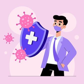 Concepto de sistema inmune