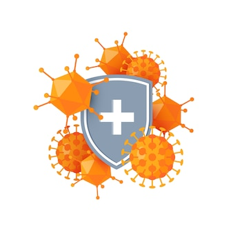 Concepto de sistema inmunológico aislado en blanco