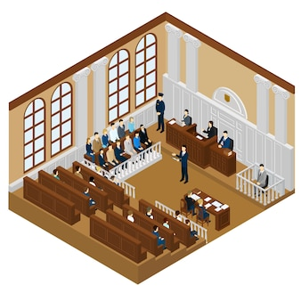 Concepto de sistema judicial isométrico