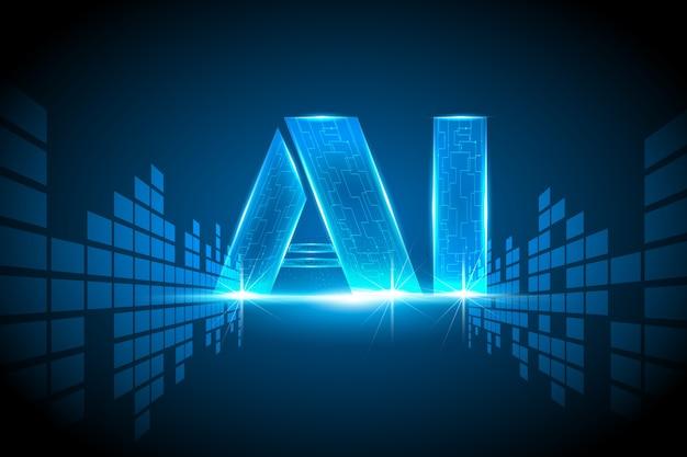 Concepto de sistema de red de datos de inteligencia artificial