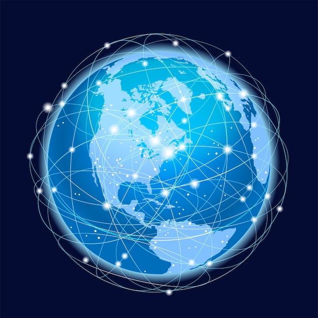 Concepto de sistema de red global