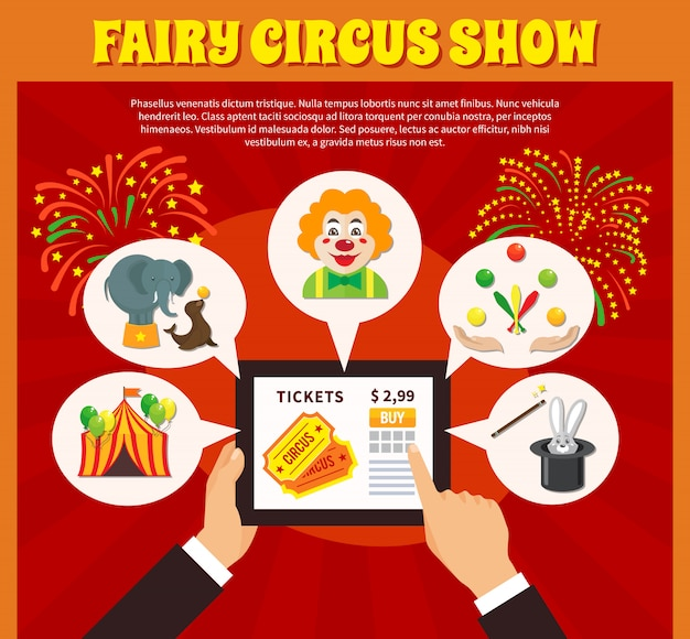Concepto de sitio web de circo