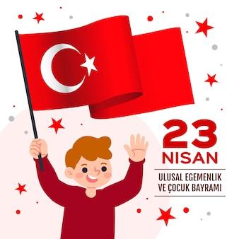 Concepto de soberanía nacional y día del niño