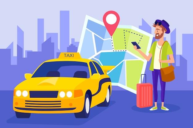 Concepto de solicitud de taxi