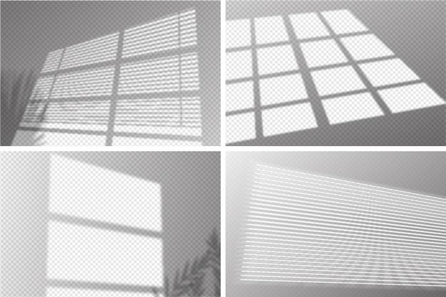 Concepto de sombras transparentes con efecto de superposición