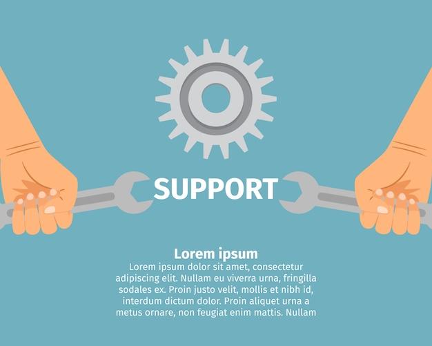 Concepto de soporte técnico