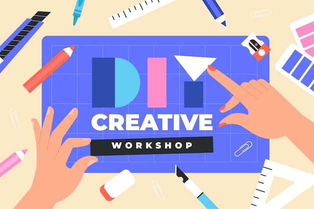 Concepto de taller creativo de bricolaje