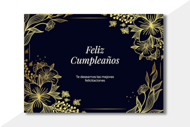 Concepto de tarjeta de feliz cumpleaños