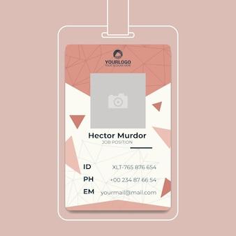Concepto de tarjeta de identificación comercial