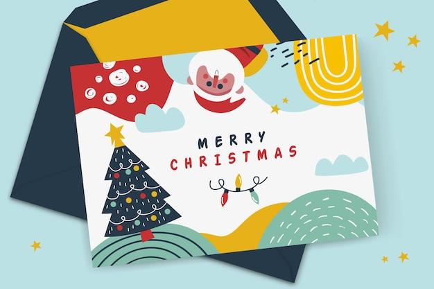 Concepto de tarjeta de navidad