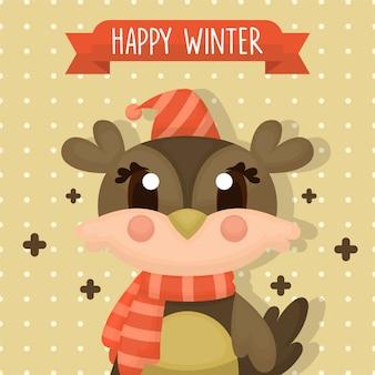 Concepto de tarjeta postal de invierno