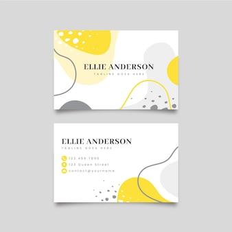Concepto de tarjeta de visita amarilla y gris
