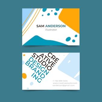 Concepto de tarjeta de visita de diseñador gráfico divertido