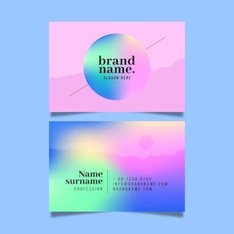 Concepto de tarjeta de visita gradiente