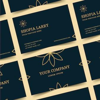 Concepto de tarjeta de visita de lujo