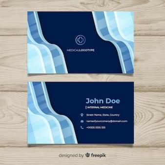 Concepto de tarjeta de visita médica en diseño flat