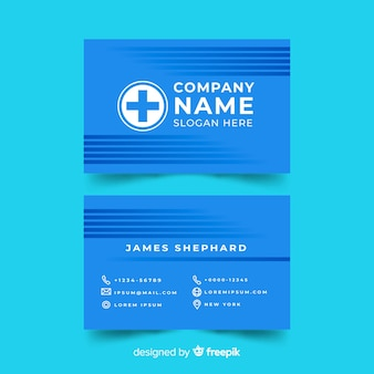 Concepto de tarjeta de visita médica