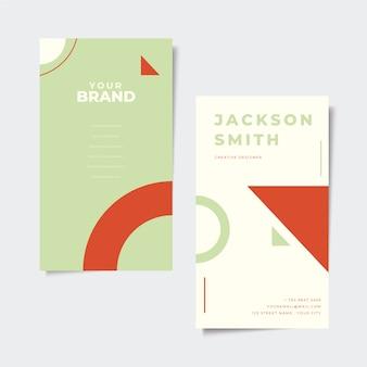 Concepto de tarjeta de visita mínima