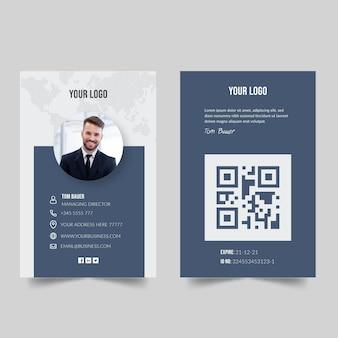 Concepto de tarjeta de visita