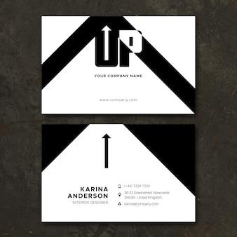 Concepto de tarjetas monocromo