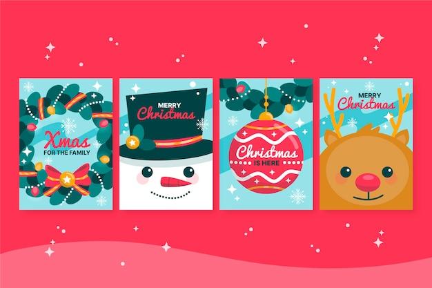 Concepto de tarjetas de navidad dibujadas a mano