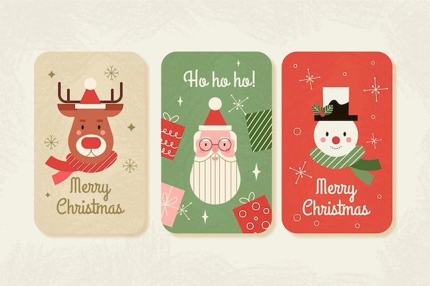 Concepto de tarjetas de navidad vintage