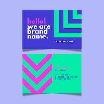 Concepto de tarjetas de visita de neón