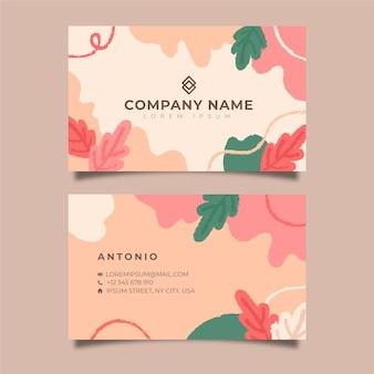 Concepto de tarjetas de visita pintadas a mano