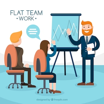 Concepto de teamwork de negocios