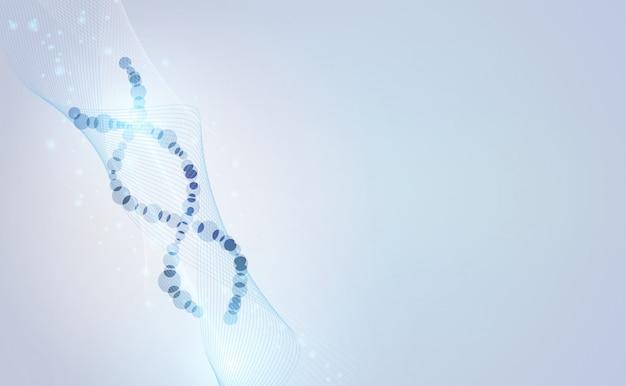 Concepto de tecnología abstracta flujo de onda ciencia adn