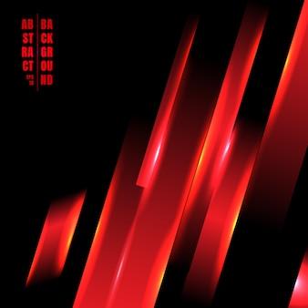 Concepto de tecnología abstracta línea de luz roja