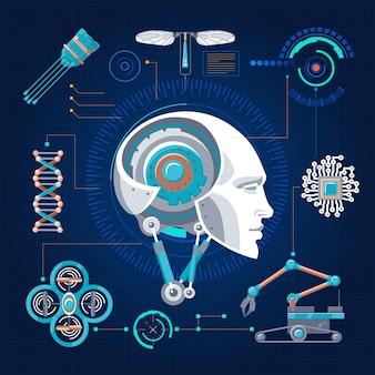 Concepto de tecnología de alta tecnología