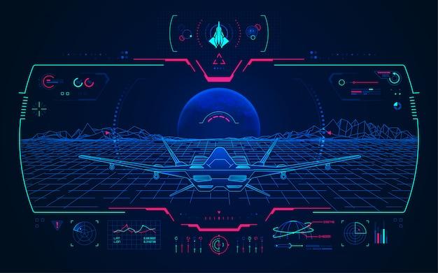 Concepto de tecnología de aviación