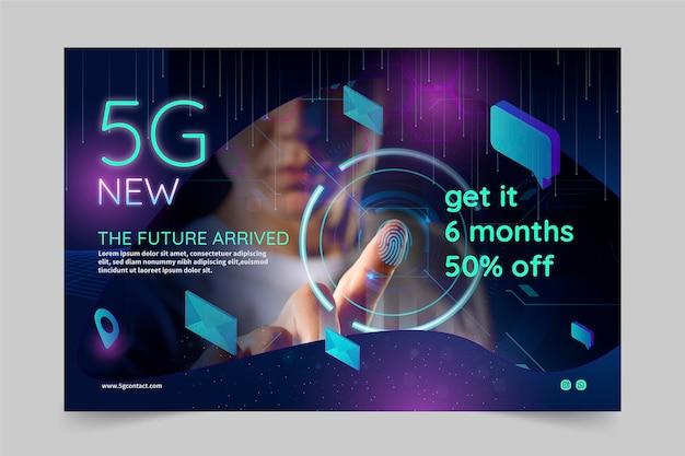 Concepto de tecnología de banner 5g