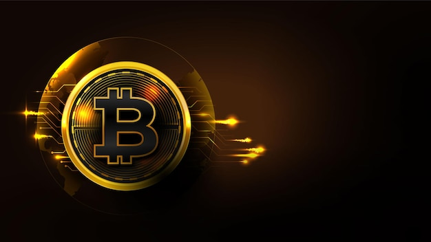 Concepto de tecnología bitcoin con diagrama de circuito