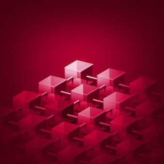 Concepto de tecnología blockchain criptomoneda de datos de base de datos de cadena de bloques