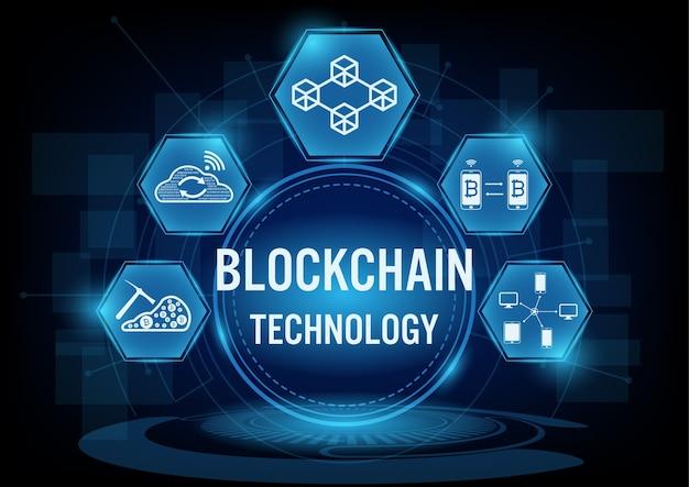 Concepto de tecnología blockchain