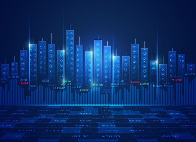 Concepto de tecnología de bolsa de valores