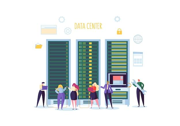 Concepto de tecnología de centro de datos