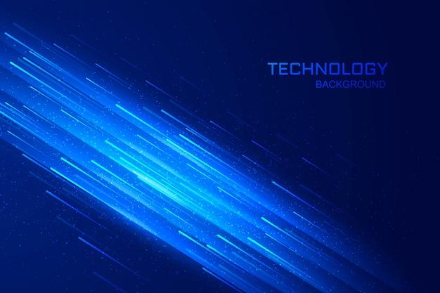 Concepto de tecnología digital fondo azul