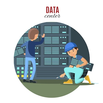 Concepto de tecnología digital