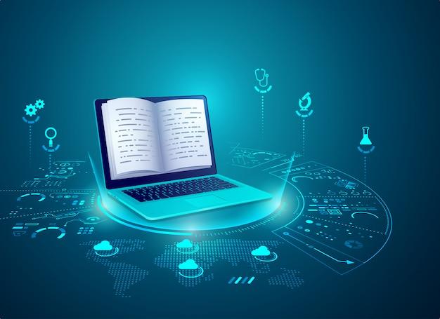 Concepto de tecnología e-learning